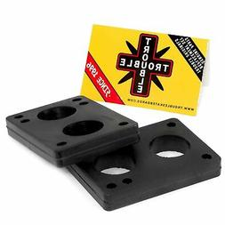 "TROUBLE SKATEBOARDS Riser Pads Rubber Risers 12mm 1/2"" Set o"