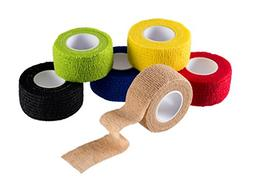 "N.C Products Self Adhesive Wrap Bandages 1"" X 5 Yards Tape 6"