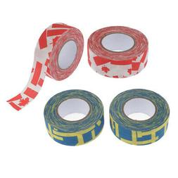 Set of 4 Durable Ice Hockey Stick Tape Lacrosse 1''x10yds Gr