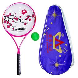 ShanRen Sports Carbon Soft Ball Rouli Racket with Flower Des