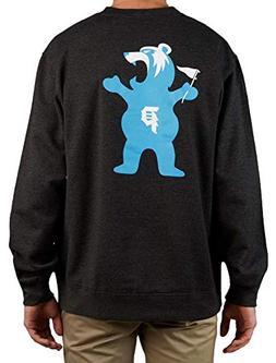 skate grizzly griptape bear crewneck sweatshirt fleece