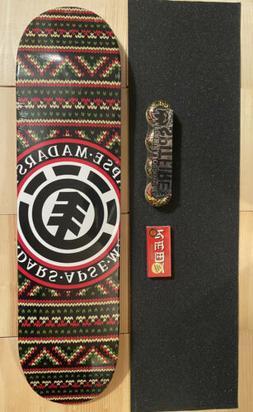 "element skateboard 7.625""x31""With Bones Super Reds, Spli"