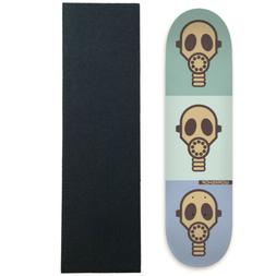 skateboard deck gas mask pastel 8 25