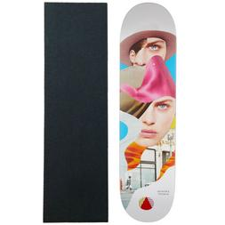 """Almost Skateboard Deck Girl Collage Song 7.75"""" with Mob Grip"""