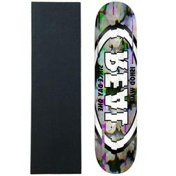 """Real Skateboard Deck Ishod Glitch 8.5"""" with Griptape"""