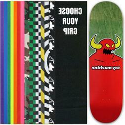 TOY MACHINE Skateboard Deck MONSTER MEDIUM  7.75 with GRIPTA