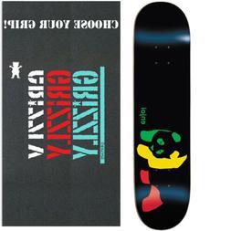 "Enjoi Skateboard Deck Rasta Panda with GRIZZLY GRIPTAPE 8.0"""