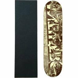 "Anti Hero Skateboard Deck They Panic Brown 8.06"" with Gripta"