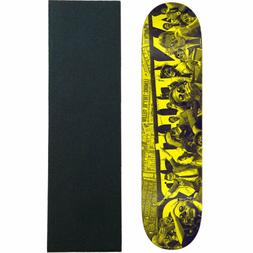 skateboard deck they panic yellow 8 25