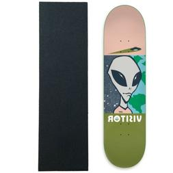 "Alien Workshop Skateboard Deck Visitor Tourist Lrg 8.25"" wit"