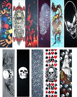 "Skateboard Graphics Grip tape 9"" x 33"" Multiple Designs to C"