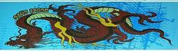 "Skateboard Grip tape Blue Dragon 9"" x 33"" Griptape"