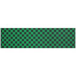 "Black Diamond Skateboard 9"" x 33"" Grip Tape Checker Green"