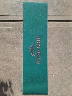 Mako Skateboard Grip Tape / Forest Green w/ Black shark logo