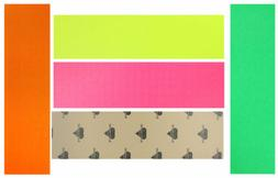 Skateboard GRIP TAPE 4 Sheets NEON COLORS 9 in