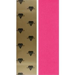 Black Diamond Skateboard Grip Tape Sheet Pink 9 in