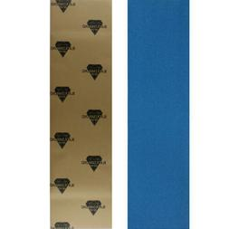 Black Diamond Skateboard Grip Tape Sheet Blue 9 in