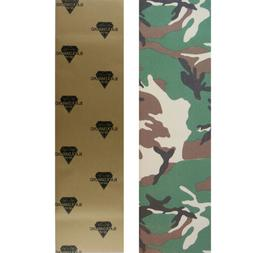 Black Diamond Skateboard Grip Tape Sheet Camo 9 in