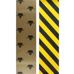 Black Diamond Skateboard Grip Tape Sheet Caution