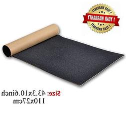 Skateboard Grip Tape Sheet, 11x44 inch, Bubble Free, Waterpr