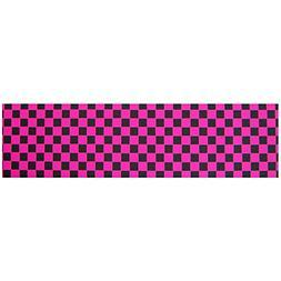 Black Diamond Skateboard Grip Tape Sheet Pink Checkers