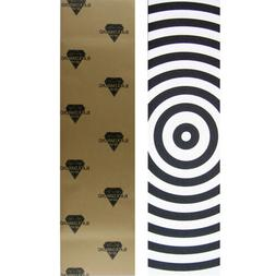 "Black Diamond Skateboard Grip Tape Sheet Target 9"" x 33"" Gri"