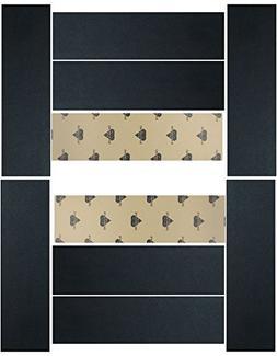 """BLACK WIDOW SKATEBOARD GRIPTAPE 1 Sheet of BLACK 9"""""""