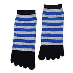 Socks, FORUU Cotton Toe Striped Colorful Patchwork Men Five