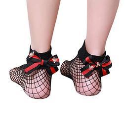 Socks, FORUU Women Ruffle Fishnet Ankle High Mesh Lace Fish