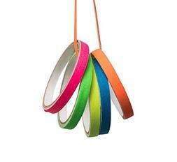 Spike Tape,Gaffer Tape 5 Rainbow Colors Grid and Line Stripi