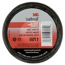 3M 1755 3/4X60' Splicing Tape, 3/4 x 60 ft, 13 mil, Black
