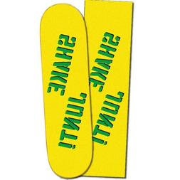 "Shake Junt Spray Logo Yellow Green Skateboard Griptape 9"""