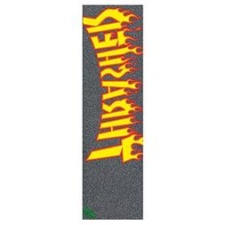 Mob Thrasher Flame Logo Skateboard Griptape