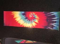 tie dye skateboard deck grip tape bear