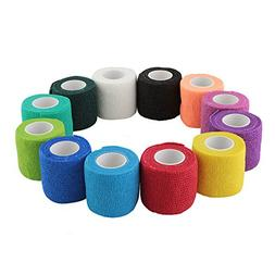 WildCow Vet Wrap 2 Inch Bulk, Tape Dog Bandages, 12 Colors P