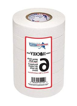 "White Hockey Tape - 6 rolls - 1"" x 20 Yards NHL Grade"