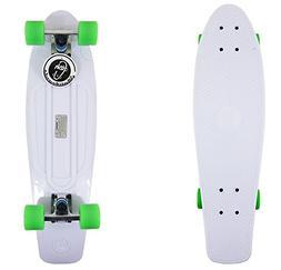 """27"""" white Retro Shark Longboard Skateboard Plastic Cruiser V"""