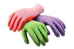 G & F 15226M Women's Garden Gloves, nitrile coated work glov