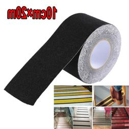 "4"" x 65.6' BLACK Roll Safety Non Skid Tape Anti Slip Tape St"