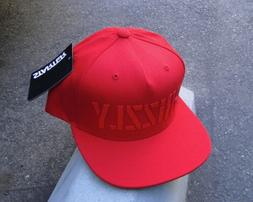GRIZZLY GRIPTAPE X SUPPLY CO. HD STAMP LOGO RED SNAPBACK HAT